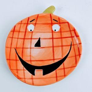 Ellen Crimi-Trent Plate Happy Pumpkin
